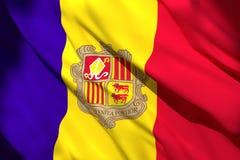 het 3d teruggeven van de vlag van Andorra royalty-vrije illustratie