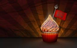 het 3D Teruggeven van Duivel Cupcake Stock Foto