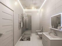 het 3D teruggeven van een badkamers binnenlands ontwerp voor kinderen Royalty-vrije Stock Afbeeldingen
