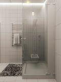 het 3D teruggeven van een badkamers binnenlands ontwerp voor kinderen Stock Foto