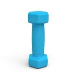 het 3d teruggeven van een blauwe die dumbell op witte achtergrond wordt geïsoleerd Royalty-vrije Stock Afbeelding
