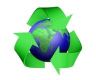 Recycleer pictogram die aarde behandelen Royalty-vrije Stock Fotografie