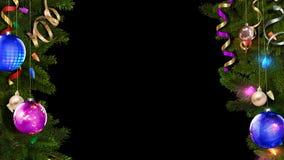 het 3D teruggeven van een helder feestelijk Kerstmiskader zal helpen tot een verbazende magische atmosfeer leiden stock illustratie