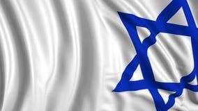 het 3d teruggeven van een Israëlische vlag De vlag ontwikkelt zich regelmatig in de wind royalty-vrije illustratie