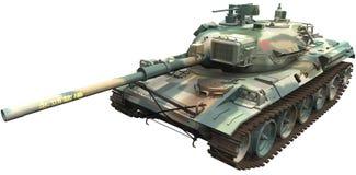 het 3d Teruggeven van een Japans Type 74 Tank Nana -Nana-yon vector illustratie
