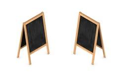 het 3d teruggeven van een leeg schildersezelbord in tweezijdige isometrische mening royalty-vrije illustratie