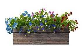 het 3d teruggeven van een realistische die bloempot op wit wordt geïsoleerd Stock Foto's