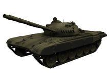 het 3d Teruggeven van een Russische/Sovjett72 Tank Stock Afbeeldingen