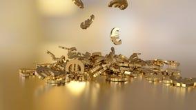 het 3d teruggeven van euro Royalty-vrije Stock Foto