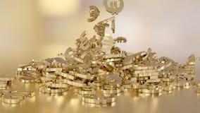 het 3d teruggeven van euro Stock Afbeelding