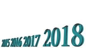 het 3d teruggeven van het Gelukkige nieuwe ontwerp van de jaar 2018 3d tekst met duidelijke bedelaars royalty-vrije illustratie