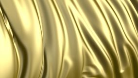 het 3D teruggeven van gouden stof De stof ontwikkelt zich regelmatig in de wind royalty-vrije illustratie