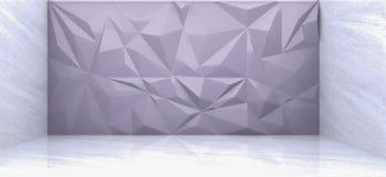 het 3D teruggeven van grijze veelhoekmuur Royalty-vrije Stock Foto