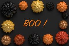 het 3d teruggeven van Halloween-pompoenen Stock Fotografie