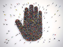 het 3D Teruggeven van het concept van mensenalt Royalty-vrije Stock Afbeeldingen