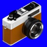 het 3d teruggeven van isometrische oude retro uitstekende die camera op a wordt geïsoleerd Royalty-vrije Stock Foto