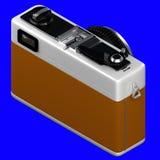 het 3d teruggeven van isometrische oude retro uitstekende die camera op a wordt geïsoleerd Stock Fotografie