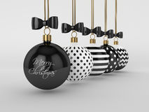 het 3d teruggeven van Kerstmissnuisterijen over grijze achtergrond Royalty-vrije Stock Afbeelding