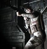 3d schildwacht van de Militair Stock Fotografie