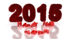 het 3d teruggeven van nieuw jaar 2015 Stock Illustratie