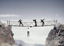 het 3D Teruggeven van onveilige brug Royalty-vrije Stock Afbeeldingen