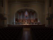 Het 3d teruggeven van Philarmoniehall orchestra Stock Fotografie