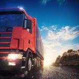 het 3D teruggeven van vrachtwagenvervoer Royalty-vrije Stock Afbeeldingen
