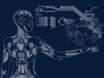 het 3D teruggeven van vrouwelijk robot digitaal concept royalty-vrije illustratie