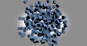 het 3D teruggeven van witte kubussen met aardige kleur als achtergrond Stock Afbeeldingen