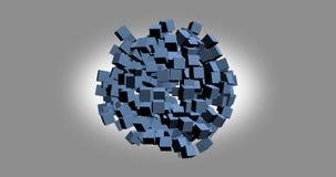het 3D teruggeven van witte kubussen met aardige kleur als achtergrond Stock Foto's