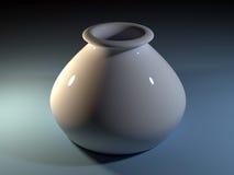 het 3D teruggeven van witte vaas Stock Foto