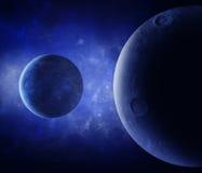 het 3d teruggeven: Vreemde planeten en sterren stock illustratie
