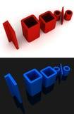 100% het 3D Van letters voorzien Stock Afbeeldingen