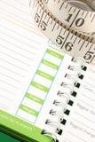 Het dagboek van het dieet Stock Fotografie