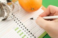 Het dagboek van het dieet Royalty-vrije Stock Foto's