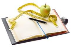 Het dagboek van het dieet Royalty-vrije Stock Afbeeldingen