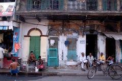 Het dagelijks-leven van Oude Kolkata stock afbeeldingen