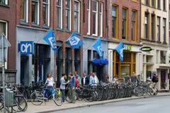 Het dagelijkse leven en Stadsmening in Groningen royalty-vrije stock fotografie