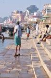 Het dagelijkse Leven in Varanasi Stock Foto