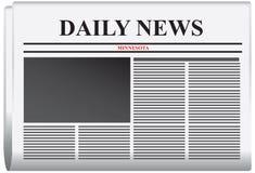 Het Dagelijkse nieuws van krantenminnesota royalty-vrije illustratie