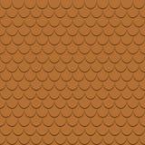 Het dak betegelt naadloos patroon De achtergrond van dakspanenprofielen achtergrond Vector vector illustratie