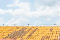 Het dak en de hemel stock afbeelding