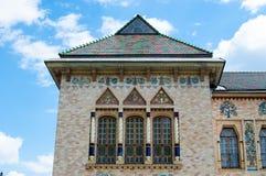 Het dak en de vensters van het oude museum Royalty-vrije Stock Foto's