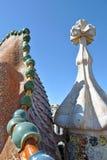 Het dak van Casabattlo Stock Foto