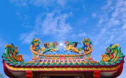 Het dak van Chinese stijl, Architectuur van Chinese stijl Stock Foto