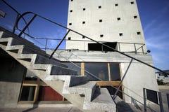 Het dak van Corbusier stock fotografie