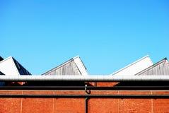 Het dak van de fabriek stock foto