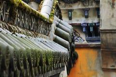 Het dak van de historische plaats, royalty-vrije stock afbeeldingen