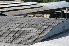Het dak van de industrie Stock Afbeelding