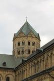 Het dak van de kathedraal in Osnabrueck Stock Afbeeldingen